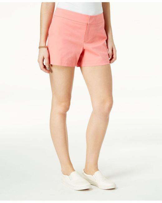 """Maison Jules - Pink 6"""" Shorts, Created For Macy's - Lyst"""