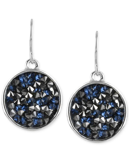 Kenneth Cole - Blue Gold-tone Multicolor Stone Drop Earrings - Lyst