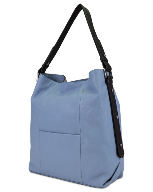 ... T Tahari - Blue Parker Leather Bucket Bag - Lyst ... 4195239b3b339