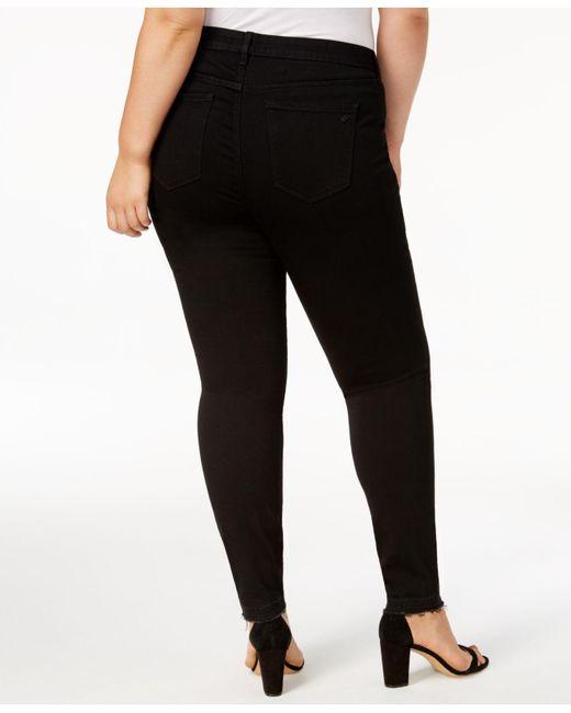 851ab73976e ... William Rast - Black Trendy Plus Size High-rise Ripped Skinny Jeans -  Lyst ...