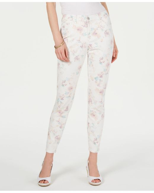 Style & Co. Multicolor Floral-print Skinny Jeans, Created For Macy's