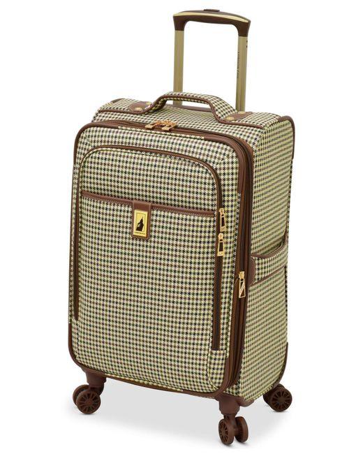 "London Fog - Green Oxford Hyperlight 21"" Expandable Spinner Carry-on Suitcase for Men - Lyst"