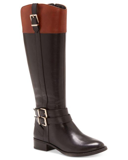 INC International Concepts   Black Women's Frankii Wide-calf Riding Boots   Lyst