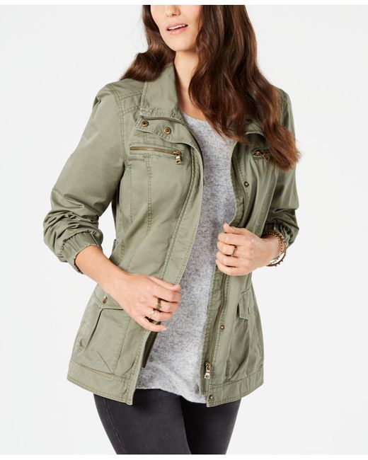 Style & Co. - Multicolor Cotton Cargo Zip-front Jacket, Created For Macy's - Lyst