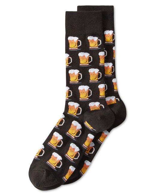 "Hot Sox | Black Men's ""beer"" Socks for Men | Lyst"