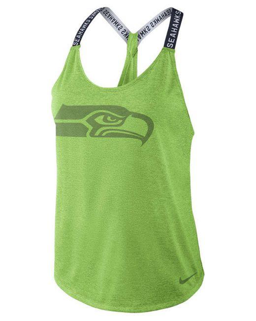 Nike - Green Seattle Seahawks Elastika Tank Top - Lyst