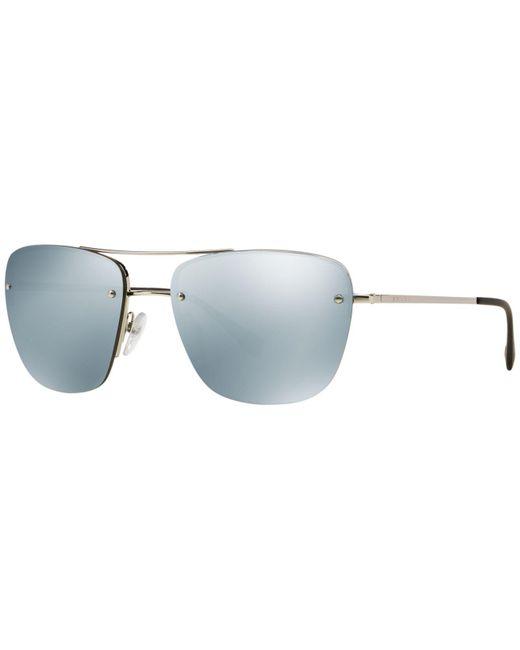 201a338224dc ... shopping prada metallic sunglasses ps 52rs for men lyst d6dbe ca938