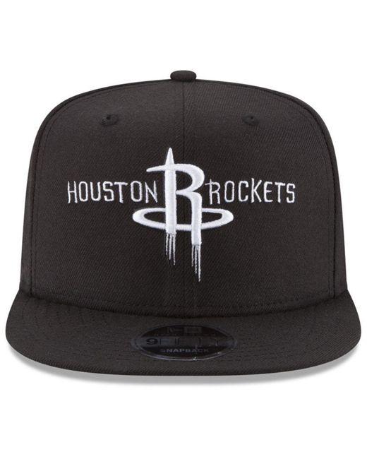 quality design 9f6e9 4d86d france ktz black houston rockets anniversary patch 9fifty snapback cap for  men lyst 89915 ec689