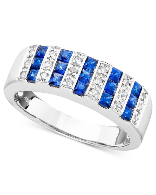 Macy's | Metallic Gemstone (9/10 Ct. T.w.) And Diamond (1/10 Ct. T.w.) Ring In 14k Gold Or White Gold | Lyst
