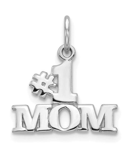 Macy's #1 Mom Charm In 14k White Gold