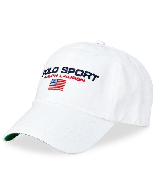 411e0065 Polo Ralph Lauren - White Polo Sport Hat for Men - Lyst ...