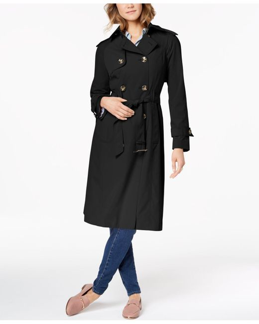 London Fog - Black Double-breasted Trench Coat - Lyst