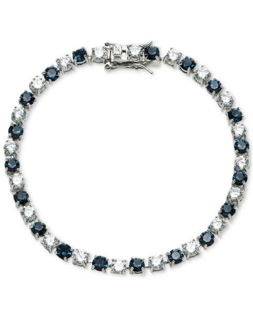 Carolee | Blue Silver-tone Stone & Crystal Link Bracelet | Lyst