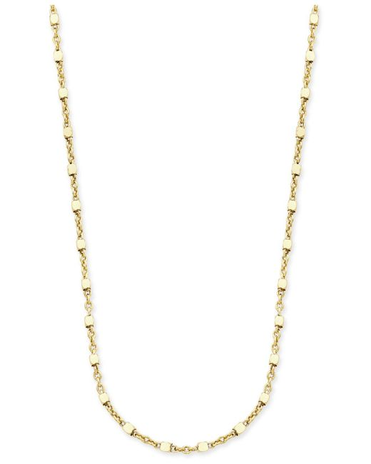 Giani Bernini - Metallic Square Bead Fancy Link Chain Necklace In 18k Gold-plated Sterling Silver - Lyst