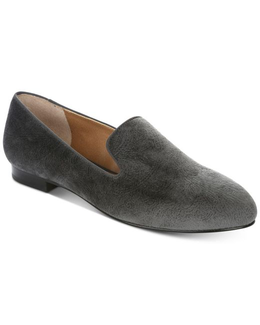 Tahari | Gray Foley Smoking Slipper Flat | Lyst