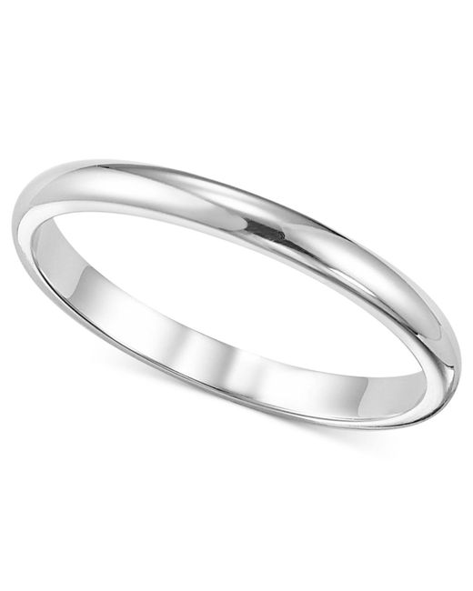 Macy's - Metallic Women's Ring, 2mm Platinum Wedding Band - Lyst