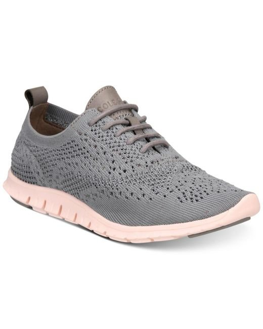 Cole Haan Gray Zerøgrand Stitchlite Oxford Sneakers