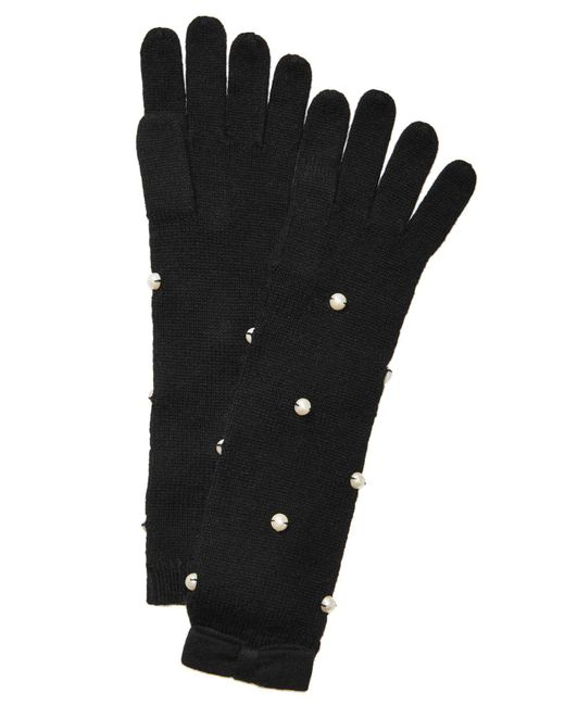 Kate Spade | Black Imitation-pearl Gloves | Lyst