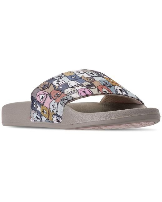 Skechers Multicolor Bobs For Dogs And Cats Pop Ups - Doggy Paddle Slide Sandals From Finish Line