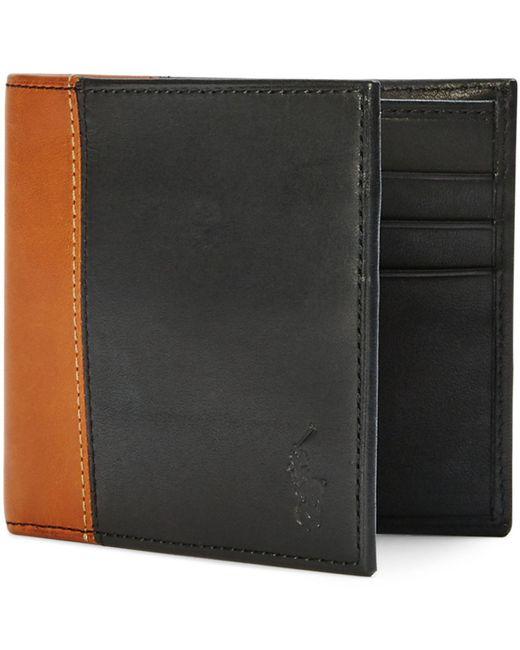 Polo Ralph Lauren | Black Two-toned Leather Billfold for Men | Lyst