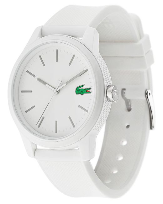 Lacoste - 12.12 White Silicone Strap Watch 42mm - Lyst