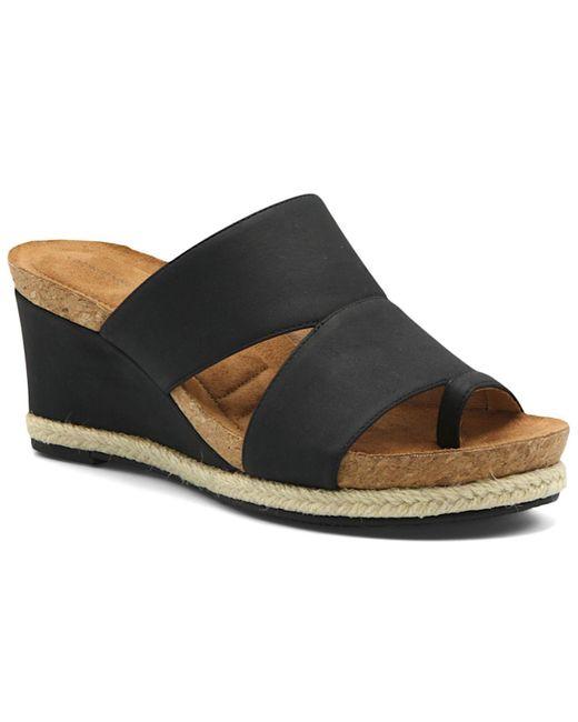 Adrienne Vittadini Black Tilly Sandal