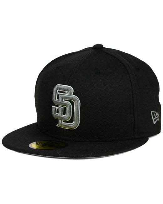 KTZ | San Diego Padres Black Graphite 59fifty Cap for Men | Lyst