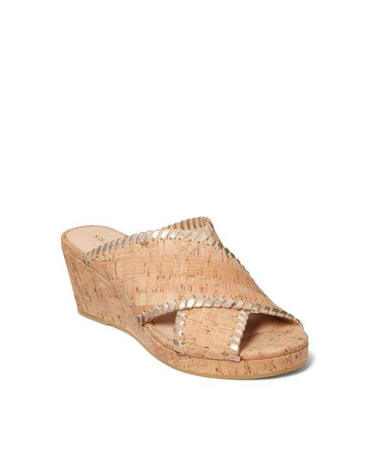 Jack Rogers Multicolor Sloane Mid Wedge Sandal