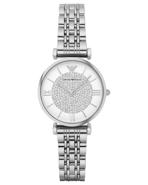 Emporio Armani - Metallic Women's Gianni T-bar Stainless Steel Bracelet Watch 32mm Ar1925 - Lyst