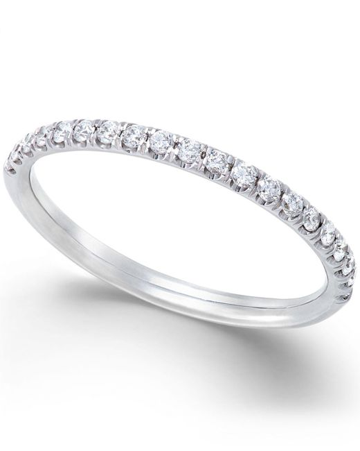 X3 - Metallic Diamond Band Ring (1/4 Ct. T.w.) In 18k White Gold - Lyst