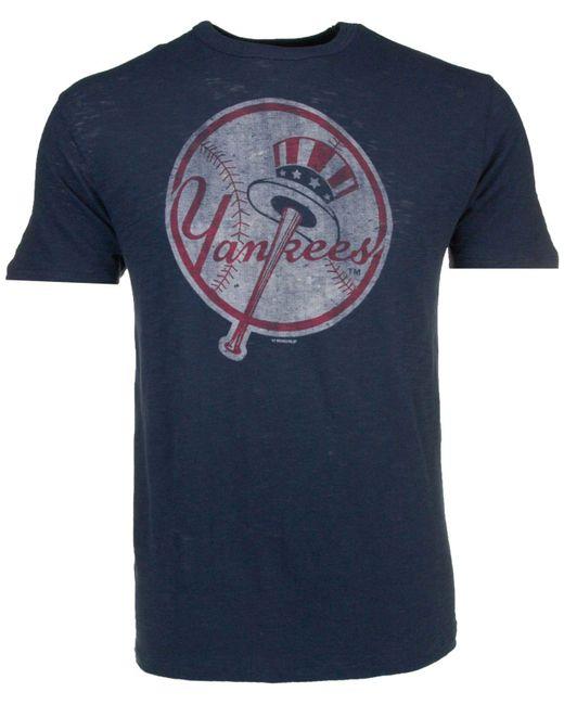 47 Brand Blue Men's New York Yankees Scrum T-shirt for men