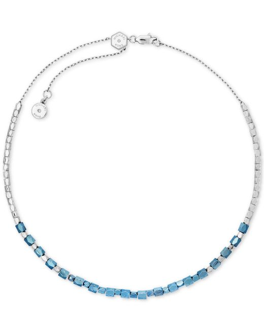 Michael Kors | Blue Two-tone Nugget Bead Choker Necklace | Lyst