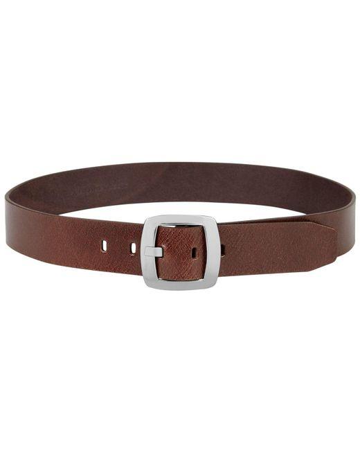 Calvin Klein Brown Leather Pant Belt With Centerbar Buckle Belt