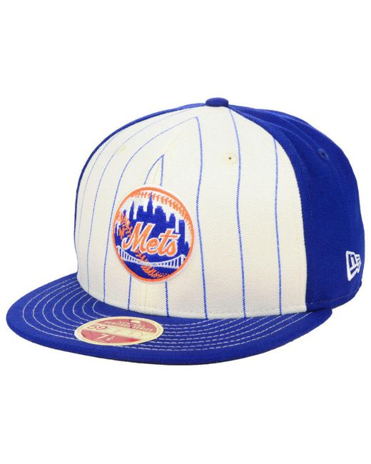 545fb09c ... shopping ktz blue new york mets vintage front 59fifty fitted cap for men  lyst 2fa67 4fc8c