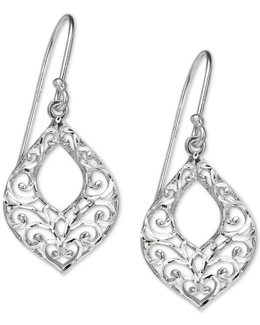 Giani Bernini - Metallic Filigree Openwork Drop Earrings In Sterling Silver, Created For Macy's - Lyst