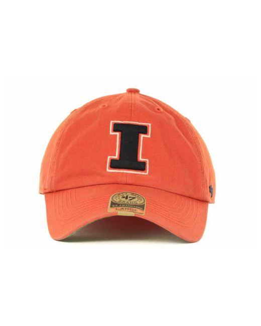 reputable site ffffc fc1cc ... promo code for 47 brand orange illinois fighting illini franchise cap  for men lyst 8735a 44dca