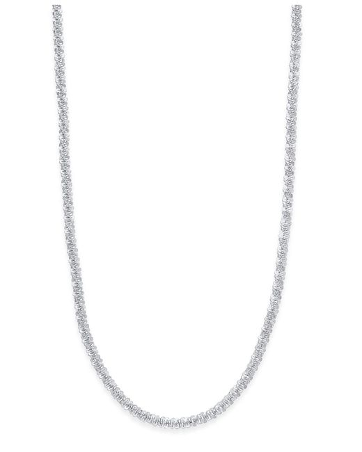 Giani Bernini | Metallic Sparkle Link Chain Necklace In Sterling Silver | Lyst