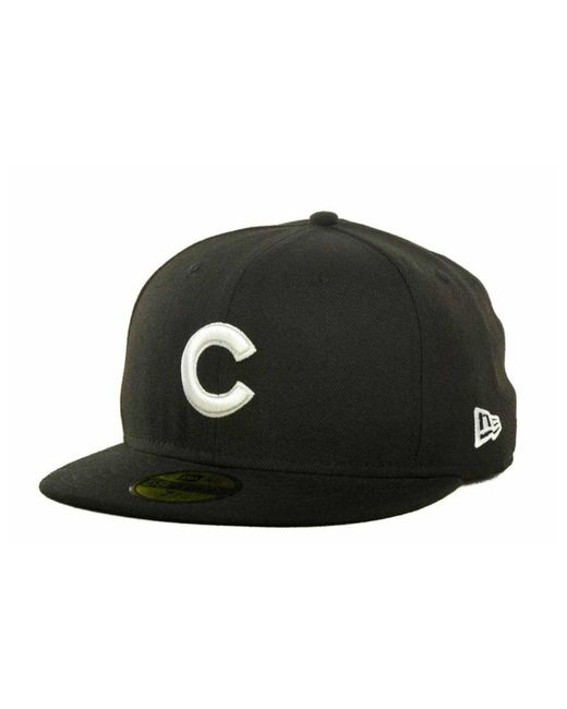 KTZ - Black Chicago Cubs Mlb B-dub 59fifty Cap for Men - Lyst
