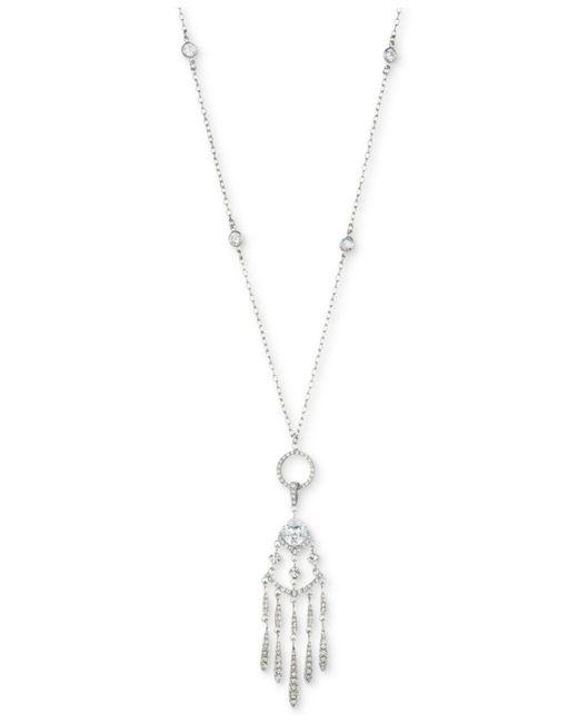 Carolee | Metallic Silver-tone Cubic Zirconia Convertible Pendant Necklace | Lyst