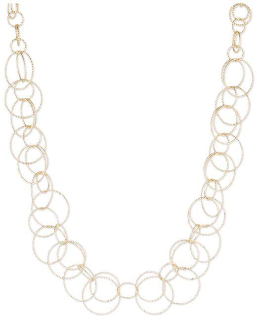 Anne Klein - Metallic Bubble-style Open Link Collar Necklace - Lyst