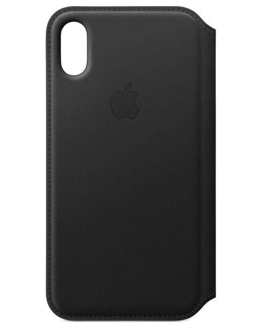 Apple - Iphone X Black Leather Folio Case - Lyst