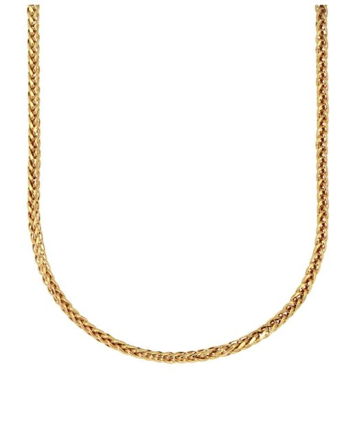 "Macy's Metallic Chevron Link 18"" Chain Necklace (1.6mm) In 18k Gold"
