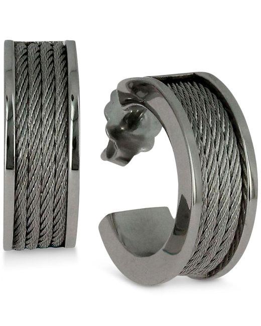 Charriol - Metallic Women's Forever Stainless Steel Cable Hoop Earrings - Lyst