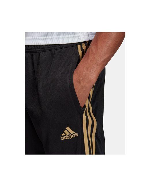 adidas Synthetic Tiro 19 Metallic Soccer Pants in BlackGold