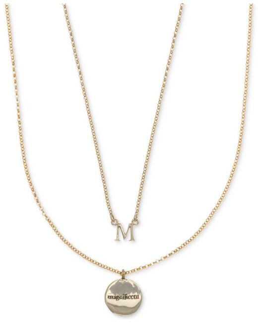 Ivanka Trump - Metallic Gold-tone 2-pc. Set Initial And Disc Pendant Necklaces - Lyst