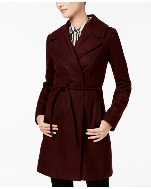 Laundry by Shelli Segal - Red Asymmetrical Walker Coat - Lyst