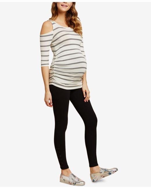 Jessica Simpson - Black French Terry Maternity Leggings - Lyst