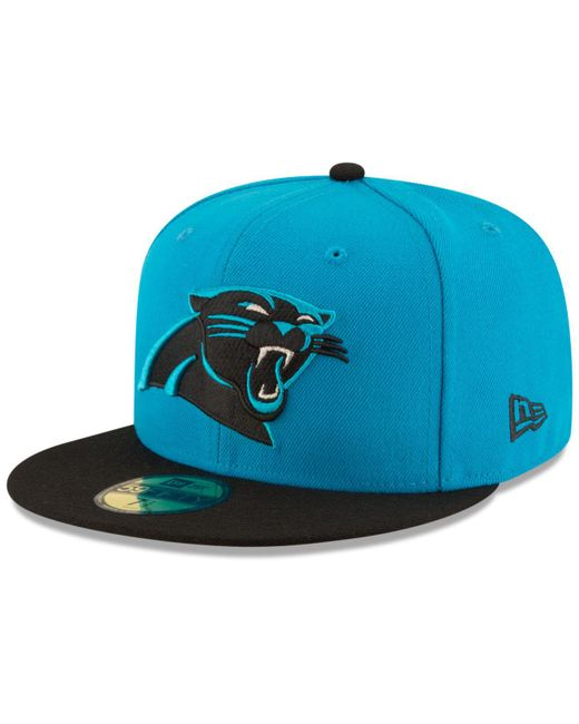 KTZ - Blue Carolina Panthers Team Basic 59fifty Cap for Men - Lyst ... 8da50acdb