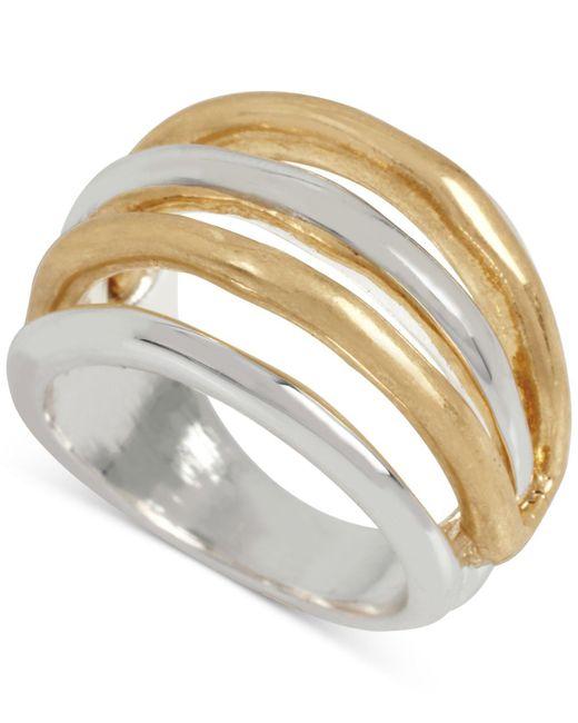 Robert Lee Morris | Metallic Two-tone Openwork Statement Ring | Lyst