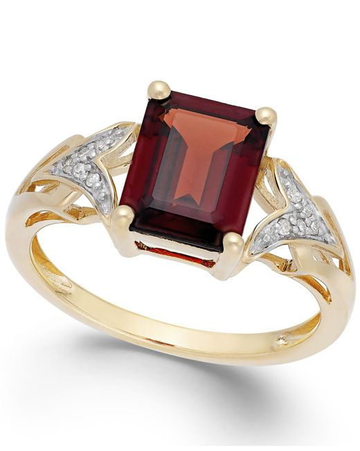 Macy's - Metallic Garnet (2-1/2 Ct. T.w.) And Diamond Accent Ring In 14k Gold - Lyst